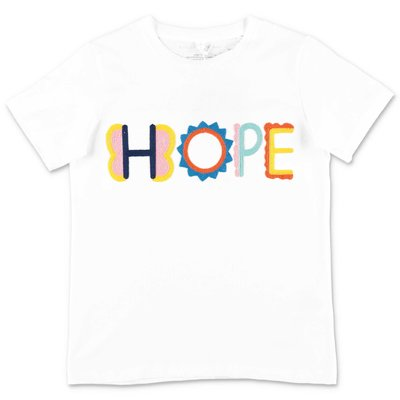 Stella McCartney Hope white cotton jersey t-shirt