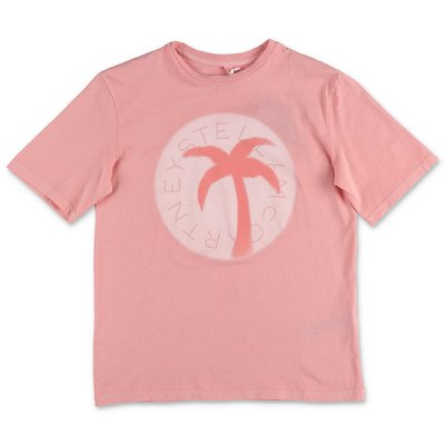 Stella McCartney t-shirt rosa in jersey di cotone