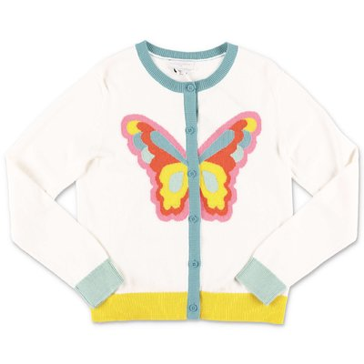 Stella McCartney white cotton knit cardigan