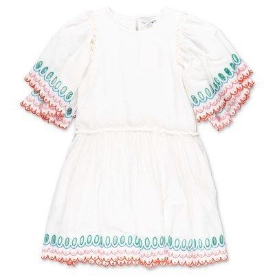 Stella McCartney white cotton muslin dress