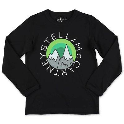 STELLA McCARTNEY t-shirt nera in jersey di cotone