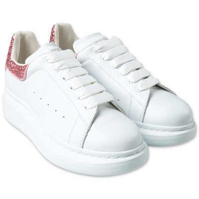 White leather Alexander McQueen sneakers with laces