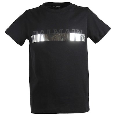 Black logo cotton jersey t-shirt