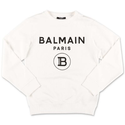 Balmain white cotton sweatshirt