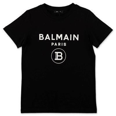 Balmain black logo detail cotton jersey t-shirt