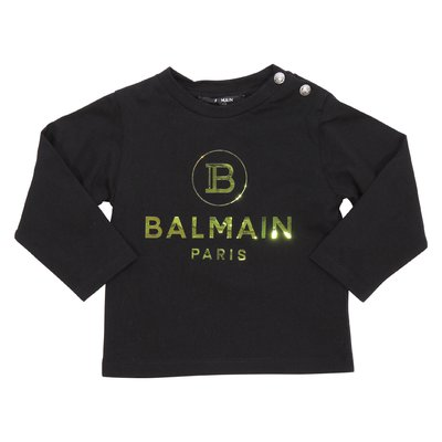 Balmain logo black jersey cotton t-shirt