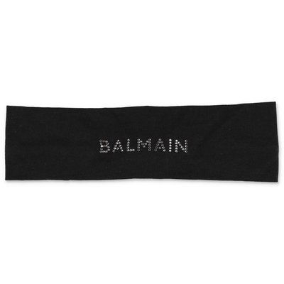 Balmain black stretch cotton headband