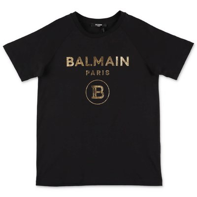 BALMAIN black cotton jersey t-shirt