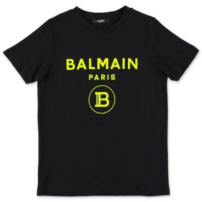 أسود القطن جيرسي BALMAIN تي شيرت