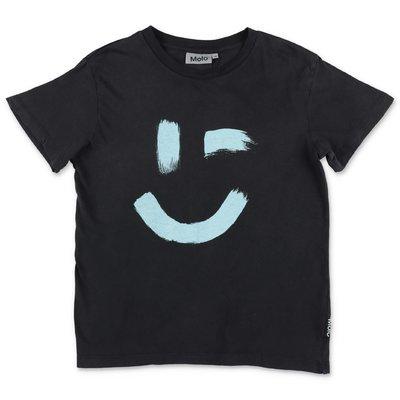 MOLO t-shirt nera Rame in jersey di cotone organico