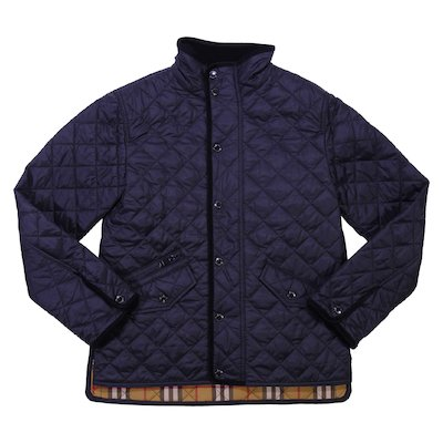 Black water resistant quilted jacket