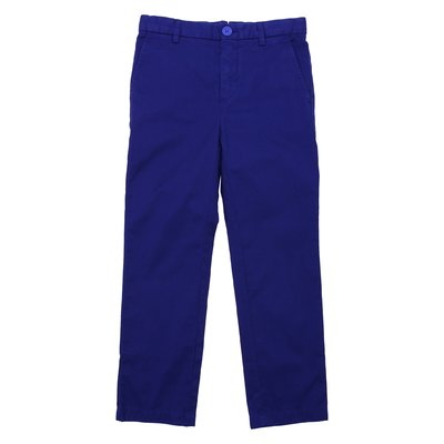 Blue cotton gabardine pants