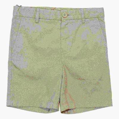 Beige cotton gabardine shorts