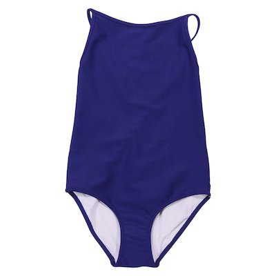 Navy blue lycra one piece swimsuit