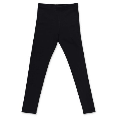 Burberry Krista black logo detail elastic cotton leggings