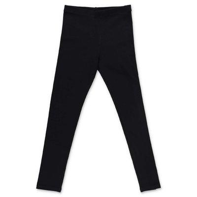 Burberry leggings neri Krista in cotone elasticizzato con logo