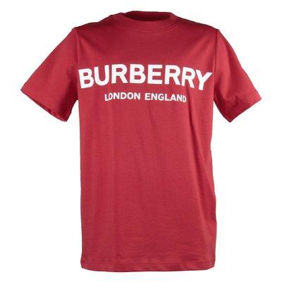 T-shirt rossa Robbie in jersey di cotone con logo