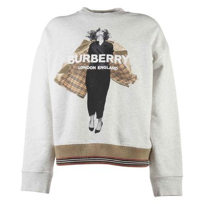 Burberry Grey wool and cotton blend printed sweatshirt