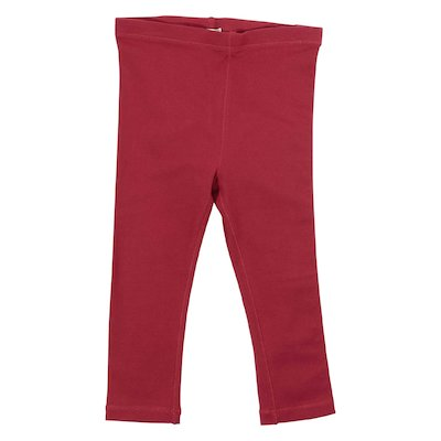 Red logo stretch cotton leggings