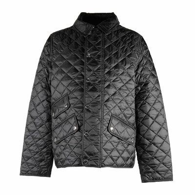 Black nylon boy Brennan quilted jacket