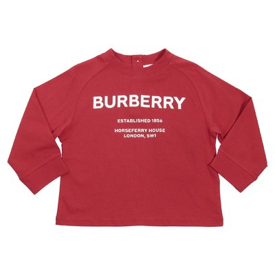 Red Horseferry logo detail cotton jersey t-shirt