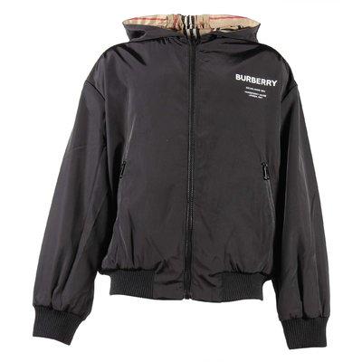 버버리 리버서블 아이콘 스트라이프 후드 재킷