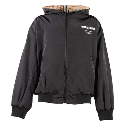 Nylon Horseferry reversible hooded jacket