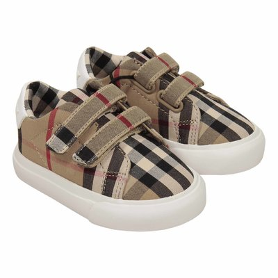Sneakers Markham straps in cotone con motivo vintage check