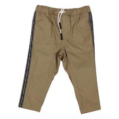 Pantaloni kaki Dash in gabardina di cotone stile casual con logo