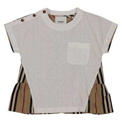 T-shirt Delilah con pannelli a contrasto in jersey e popeline di cotone