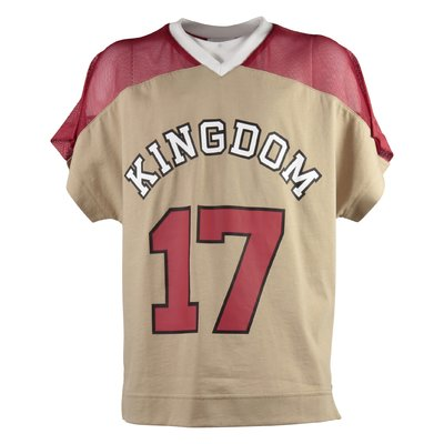 Beige Rugby style cotton jersey KINGDOM TEE t-shirt