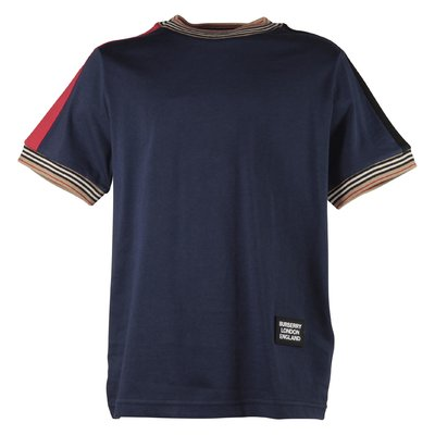 Navy blue Icon Stripe cotton jersey t-shirt