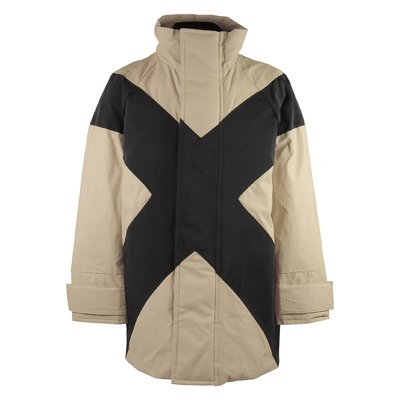 Beige cotton CHIPPY padded jacket with insert