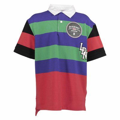 Multicolor logo detail cotton piqué PHILIP polo shirt