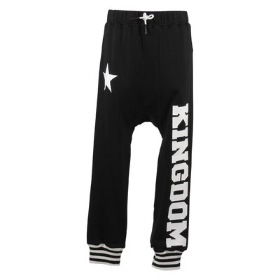 Black logo detail Kingdom print cotton JULES sweatpants