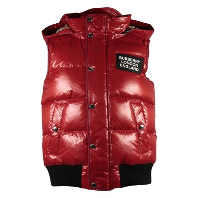 Red LUKAS down jacket with hood