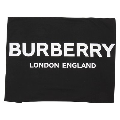 Black logo detail cotton blanket