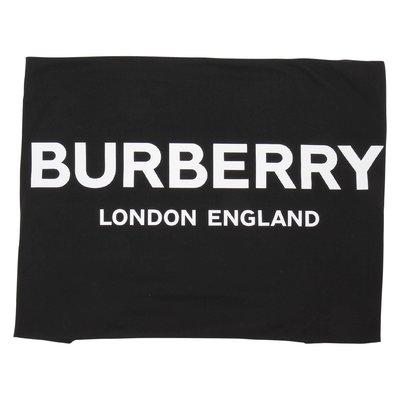 Coperta nera in cotone con logo