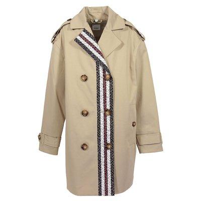 Beige POPPY MONO cotton canvas trench coat
