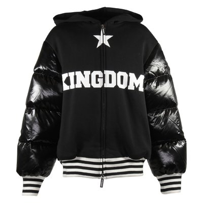 Black Kingdom cotton sweatshirt jacket with hood