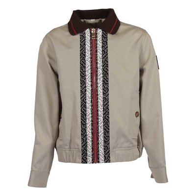 Beige cotton canvas HARRINGTON jacket