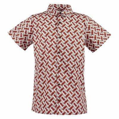Camicia Desmond stampa Monogram in popeline di cotone
