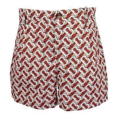 Shorts DESMOND in popeline di cotone con monogramma