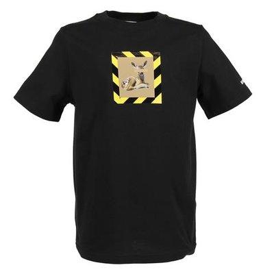 T-shirt nera RENLEY DEER in jersey di cotone
