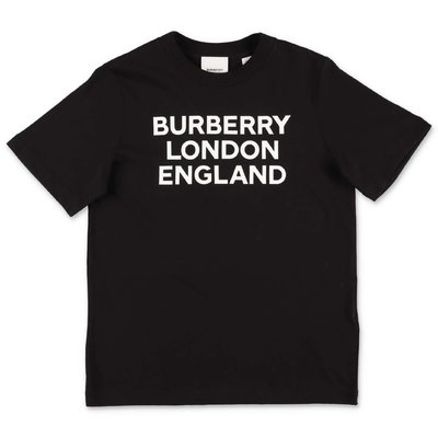 Burberry t-shirt nera in jersey di cotone