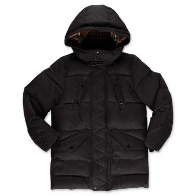 Burberry RYKER black nylon down jacket with hood