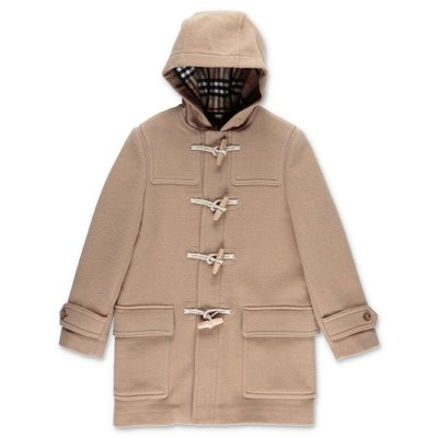 Burberry beige pure virgin wool Montgomery cloth coat