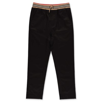 Burberry black cotton gabardine pants