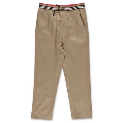 Burberry beige cotton poplin pants