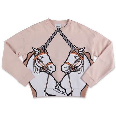 Burberry LILIA pink cotton sweatshirt